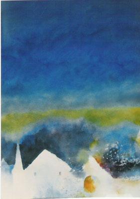 höfe vor blauem himmel, 50x40 cm