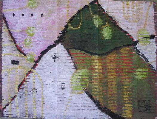 höfe 2002, gouache auf gesso auf wellpappe