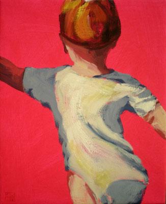 fragile walking II, 2014, oil on acryl on canvas
