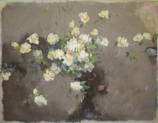 weißrosen 2009, 100x130 cm
