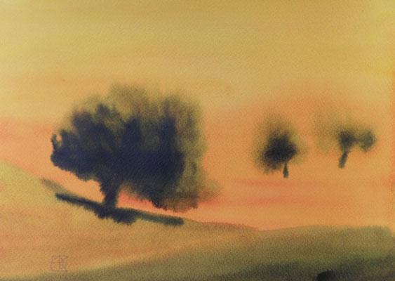 apfelbäume 2014, 18x22 cm