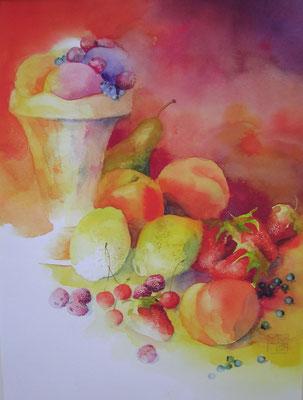 früchteeis, 35x25 cm