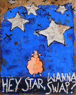 hey star 2016, acrylic on canvys, 50x40 cm