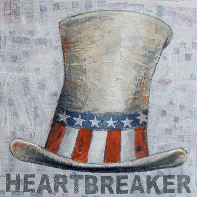 heartbreaker 2015, 40x40 cm, oil on cloth on canvas