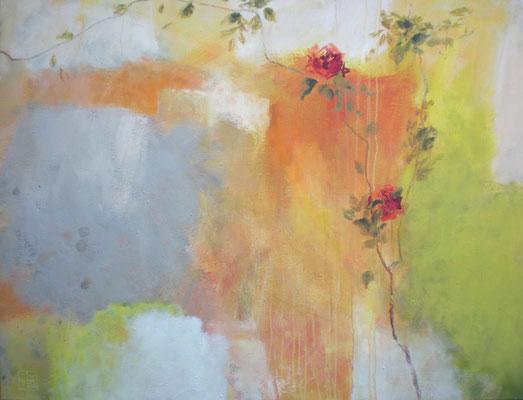 mauerrose 2008, 115x150 cm