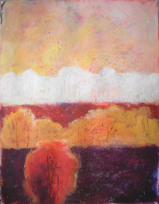 waldstreifen 2012, 70x50 cm,  acryl auf pappe