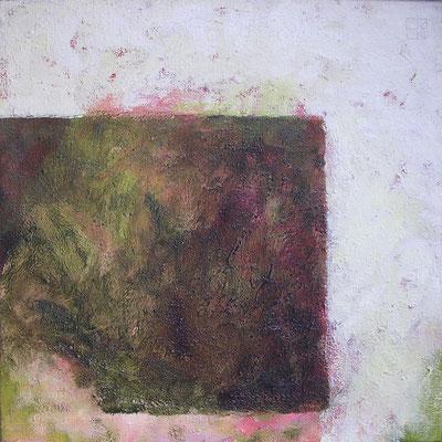 hof, moosbedeckt 2008, 50x50 cm