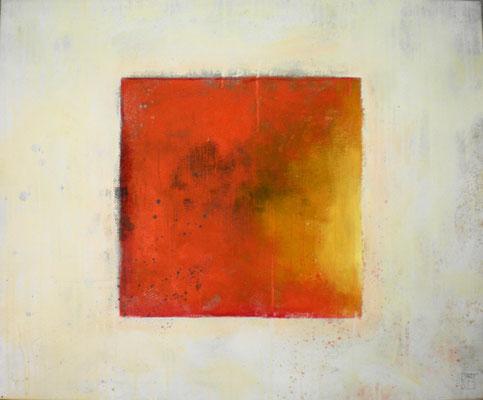 rotes feld im weiß 2012, 80x60 cm