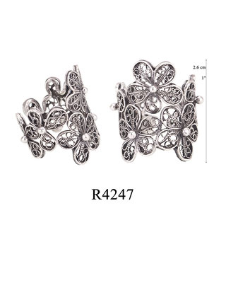 R4247 OXI 64, GP 74: BOTANICAL GARDEN COLLECTION, FILIGREE OXI RING.