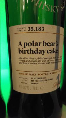 Ein Geburtstagskuchen von Glen Moray? Eisbären müssen glückliche Tiere sein!