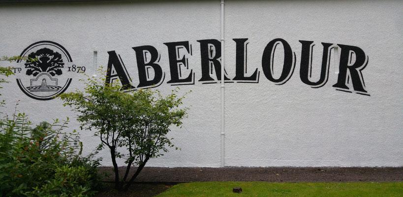 Der berühmte Aberlour Schriftzug