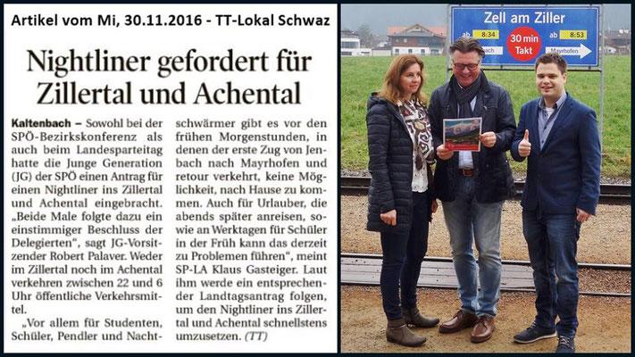"""Antrag """"Nightliner Zillertal und Achental"""" der Jungen Generation"""