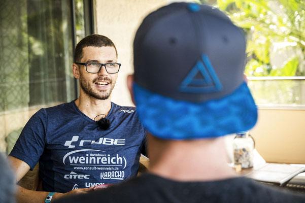 Franz im Interview mit Niclas.