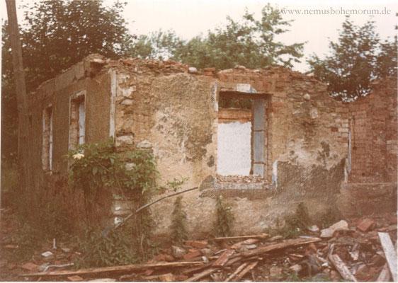 """Abriss des Hauses Nr. 13 """"Fellner"""" in Heinrichsberg im Jahr 1968 (Quelle: Schober)"""