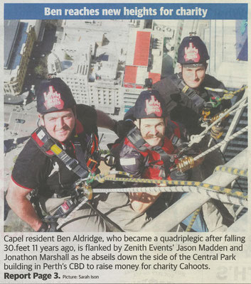 Cahoots Central Park Plunge 2018 newspaper article