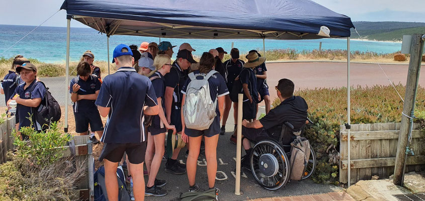 Cape to Cape resilience talk with Busselton High School