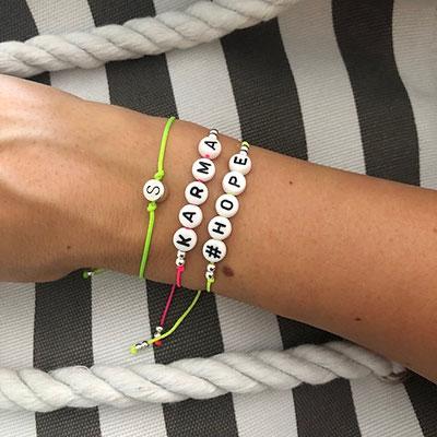 Personalisierte Armbänder