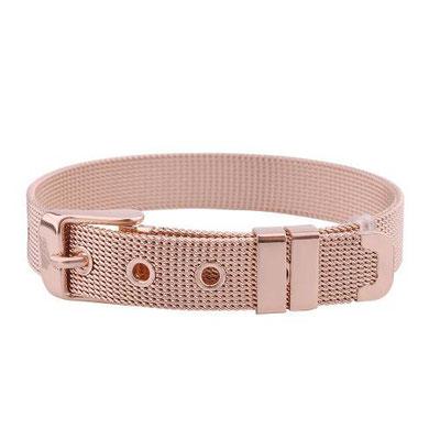 Edelstahl Armband in rosé
