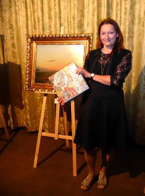 """Präsentation des Buches """"ARTEDTION 2018"""" im Casino Innsbruck, das Buch enthält eine Künstler-Präsentation von mir"""