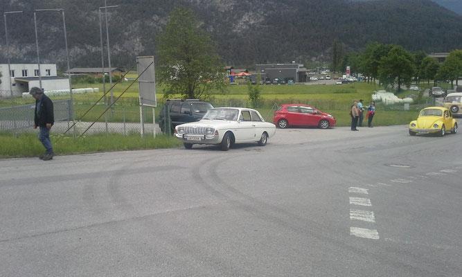 auch einige Autos waren mit dabei.....