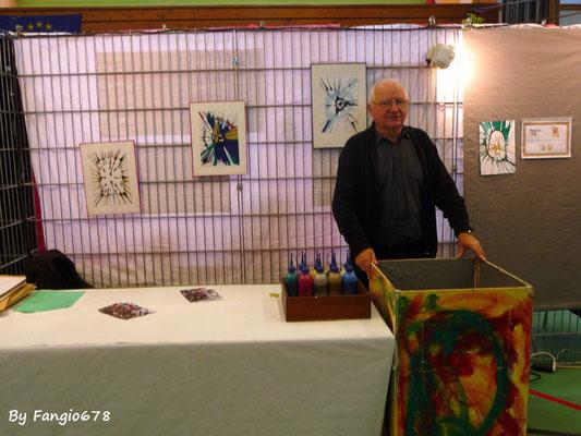 Pierre et l'atelier peinture