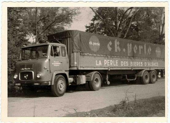Ensemble routier Scania-Vabis de mon père pour la brasserie CK Perle