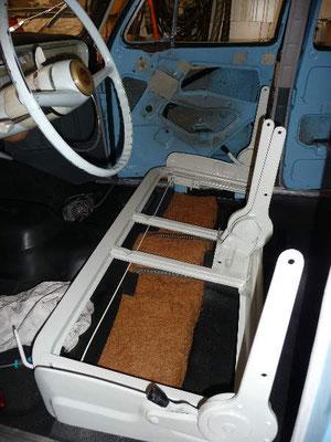 Remontage du châssis des sièges avant