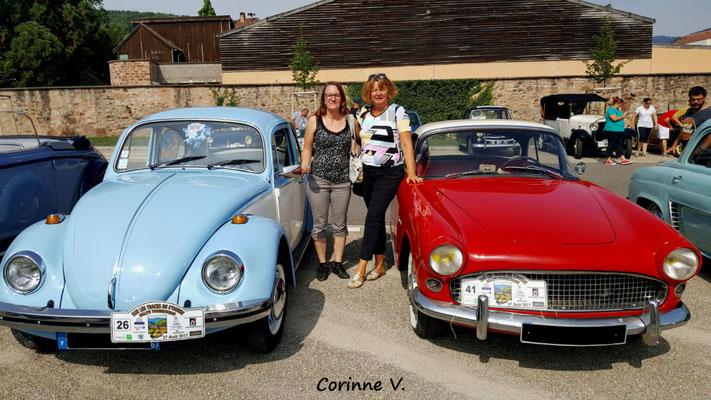 Deux filles dans le Rallye