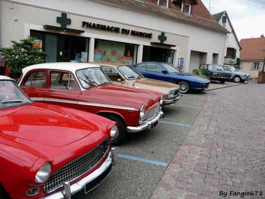 Le parking du club Simca67 et Anciennes