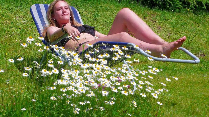 relaxen  auf der Liegewiese