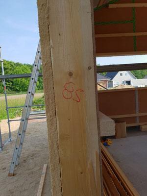 Außenwand mit Holzfaserdämmung