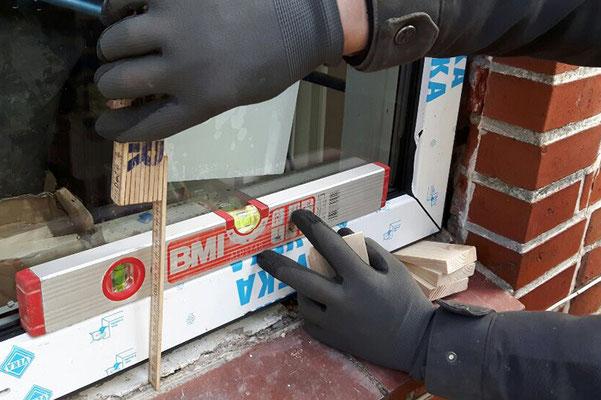 Fenstereinbau im Januar
