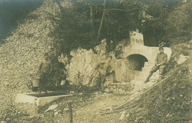 Unsere Quelle am Vodil Vrh. Sammlung www.Isonzofront.de