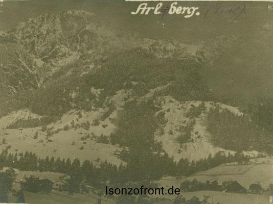 Landschaftsaufnahme auf der Fahrt an die Isonzofront. Sammlung Isonzofront.de