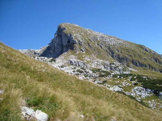 Blick zum Rombon vom Cukla Gipfel aus.