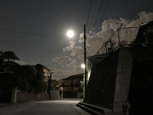 渡辺 篤/2020.05.07 20:53/横浜市、自宅近く路上/月齢14.9