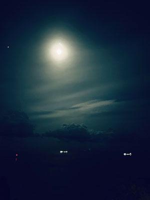 ぴかりん/2020.10.28 18:52/福島県 いわき市、小名浜オーシャンホテルのバルコニーより