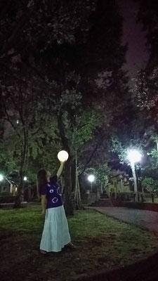 りえ&ゆうき/2020.10.13 00:32/東京、文京区立大塚公園