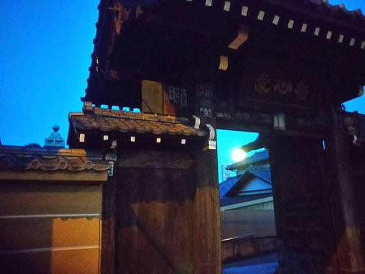 りえ&ゆうき/2020.12.01 06:06/東京、近所のお寺