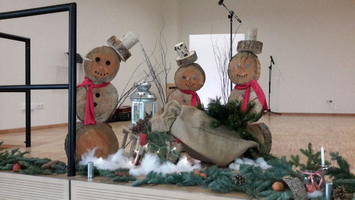 lustige Schneemänner