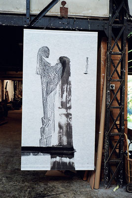 Bythia, 90 x 240 cm