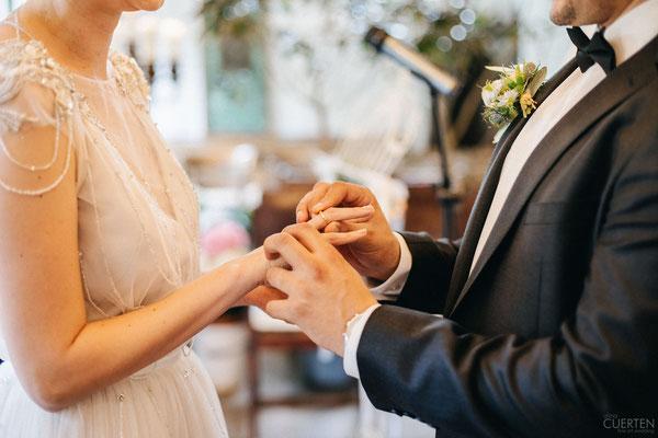 Ringwechsel Brautpaar