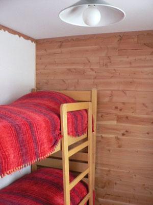 Les lits superposés.