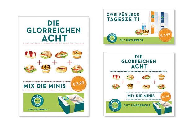 Produktmarke und Printkampagne