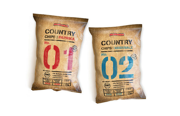 "Produktmarkenentwicklung & Packaging ""Country Chips"""