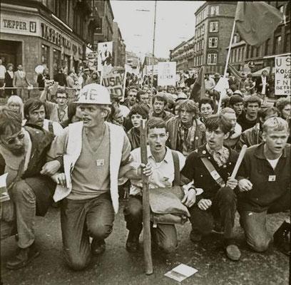 Den militante blok i Vietnam-demoen