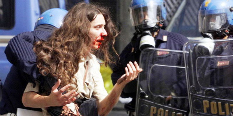 Politibrutalitet, Genova, juli 2001