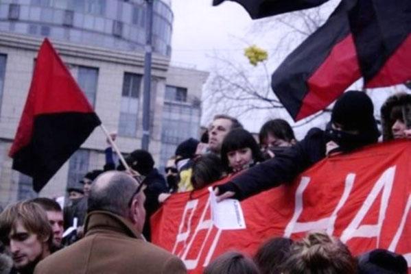 Anarkisternes demoblok i Moskva