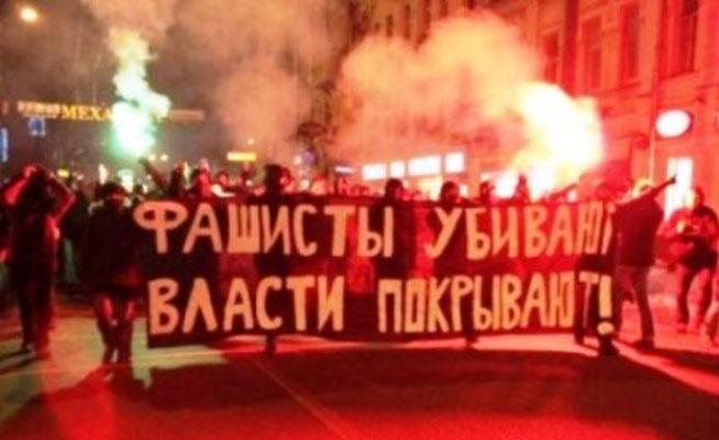 Antifa - demo i Moskva