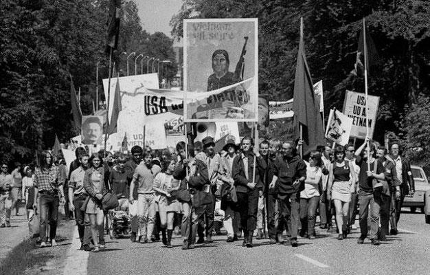 Pinsemarchen i 1968 fra Helsingør til København